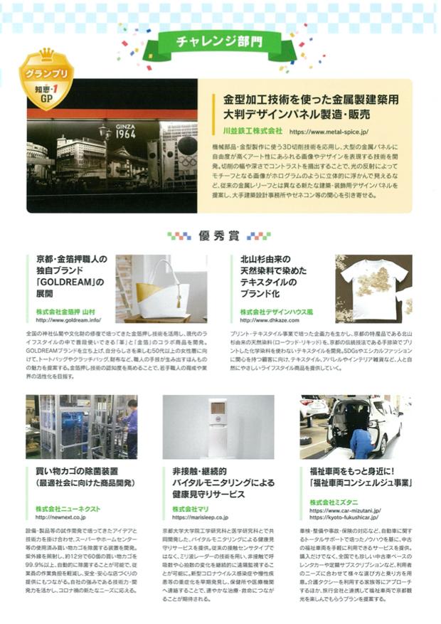 京都商工会議所 配布資料 2021年5月 チャレンジ部門